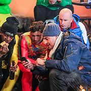 DUI/Hinterzarten/20130212 - Opname Vliegende Hollanders 2013 - Sterren van de Schans, Keizer, Jody Bernal, Dean Saunders en Lange Frans