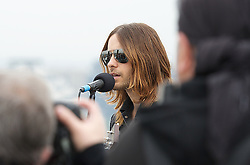30 Seconds to Mars perform a unique one-off gig at the top of the O2 Arena roof, to promote their new album <br /> Love Lust Faith + Dreams, <br /> In the photo - Jared Leto<br /> London, United Kingdom<br /> Tuesday, 18th June 2013<br /> Picture by Elliot Franks / i-Images