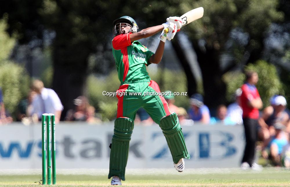 Naeem Islam in action for Bangladesh.<br /> Cricket - 2nd ODI New Zealand Black Caps v Bangladesh, 8 February 2010, University Oval, Dunedin, New Zealand.<br /> International Cricket Season 2009/2010<br /> Photo: Rob Jefferies/PHOTOSPORT