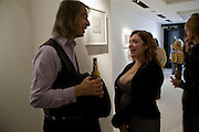 IVOR BRAKA; ELAINE FERGUSON, Elaine Ferguson. ' Texas Blues'. Scream Gallery. Bruton St. London. 11 December 2008 *** Local Caption *** -DO NOT ARCHIVE -Copyright Photograph by Dafydd Jones. 248 Clapham Rd. London SW9 0PZ. Tel 0207 820 0771. www.dafjones.com<br /> IVOR BRAKA; ELAINE FERGUSON, Elaine Ferguson. ' Texas Blues'. Scream Gallery. Bruton St. London. 11 December 2008