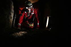 UK ENGLAND GREENFIELD 21MAR12 - Confined space training with breathing apparatus inside an underground tunnel at Capital Safety training facility in Greenfield, Greater Manchester...jre/Photo by Jiri Rezac..© Jiri Rezac 2012