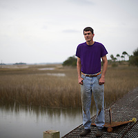 WADMALAW ISLAND, SOUTH CAROLINA: Daniel LaRoche, 42, a commercial fisherman, supports Donald Trump.  LaRoche says, 'I've come from a family that's worked very hard. My dad was a life long fishermen and so am I...We don't believe in government help. Democrats lead 100% the other way. We see all the billions of dollars for programs that don't need it. [Donald] Trump believes in a hard work ethic.'