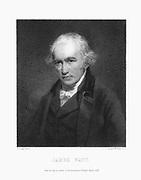 James Watt (1736-1819) Scottish engineer. Print after portrait by John Partridge