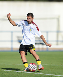 Aston Villa's Carles Gil  - Photo mandatory by-line: Joe Meredith/JMP - Mobile: 07966 386802 - 17/07/2015 - SPORT - Football - Albufeira - Estadio Da Nora - Pre-Season Friendly