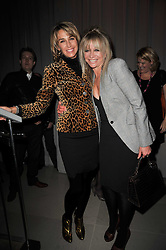 Left to right, ASSIA WEBSTER and JO WOOD at the 2nd Rodial Beautiful Awards in aid of the Hoping Foundation held at The Sanderson Hotel, 50 Berners Street, London on 1st February 2011.