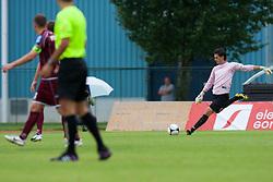 Pelko Zan of NK Triglav during football match between NK Triglav Kranj and Aluminij, 2nd Round of Prva Liga, on 22 July, 2012, in Sportni center, Kranj, Slovenia. (Photo by Grega Valancic / Sportida)