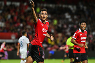 NONTHABURI, THAILAND - JULY 09: Assumpcao of SCG Muangthong United reaction after scoring to tie the game during the second half of the Thai League: SCG Muangthong United vs Buriram United at SCG Stadium, Nonthaburi, Thailand on July 09, 2017.<br /> .<br /> .<br /> .<br /> (Photo by: Naratip Golf Srisupab/SEALs Sports Images)<br /> .<br /> Any image use must include a mandatory credit line adjacent to the content which should read: Naratip Golf Srisupab/SEALs Sports Images