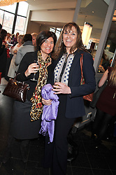 Left to right, BLANCA LEIGH and the DUCHESS OF NORFOLK at a ladies lunch in support of Maggie's Barts hosted by Judy Naake, Clara Weatherall and Caroline Collins at Le Cafe Anglais, 8 Porchester Gardens, London W2 on 19th March 2013.