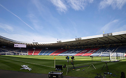 General view of Hampden Park before the William Hill Scottish Cup Final at Hampden Park, Glasgow. PRESS ASSOCIATION Photo. Picture date: Saturday May 19, 2018. See PA story SOCCER Scottish Final. Photo credit should read: Jeff Holmes/PA Wire. RESTRICTIONS: EDITORIAL USE ONLY