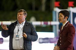 Tops Jan, Al Emadi Khalid Mohammed, (QAT), FEI President<br /> Logines Challenge Cup<br /> Furusiyya FEI Nations Cup Jumping Final - Barcelona 2015<br /> © Dirk Caremans<br /> 25/09/15
