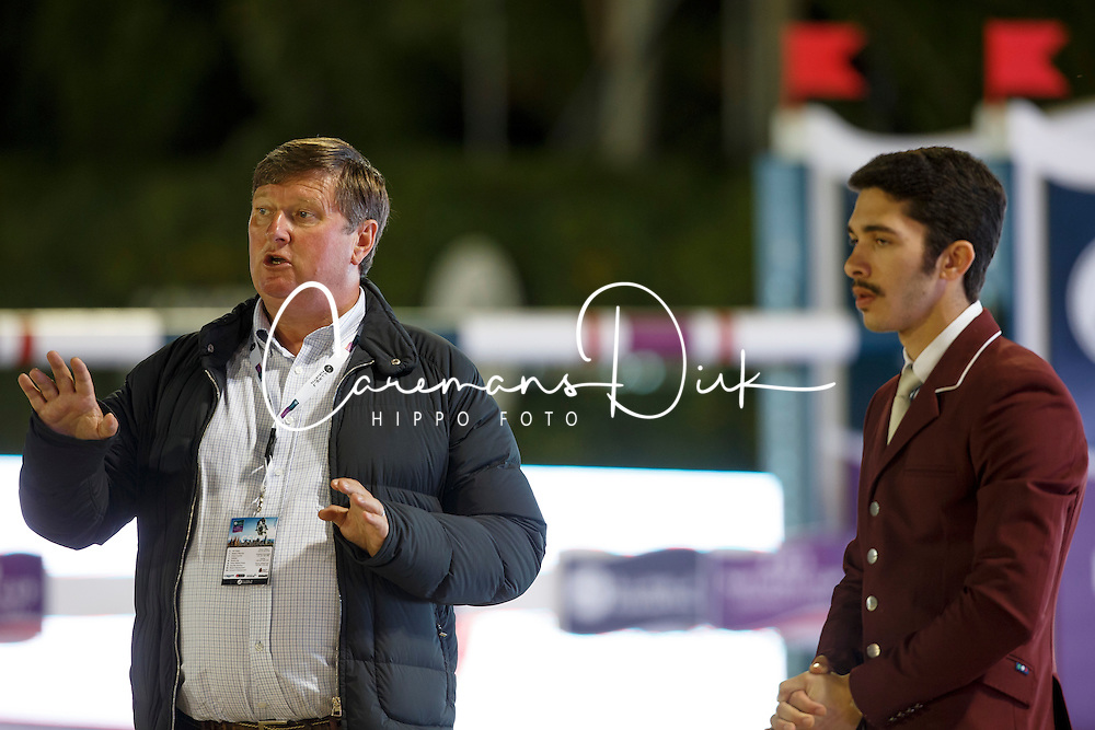 Tops Jan, Al Emadi Khalid Mohammed, (QAT), FEI President<br /> Logines Challenge Cup<br /> Furusiyya FEI Nations Cup Jumping Final - Barcelona 2015<br /> &copy; Dirk Caremans<br /> 25/09/15