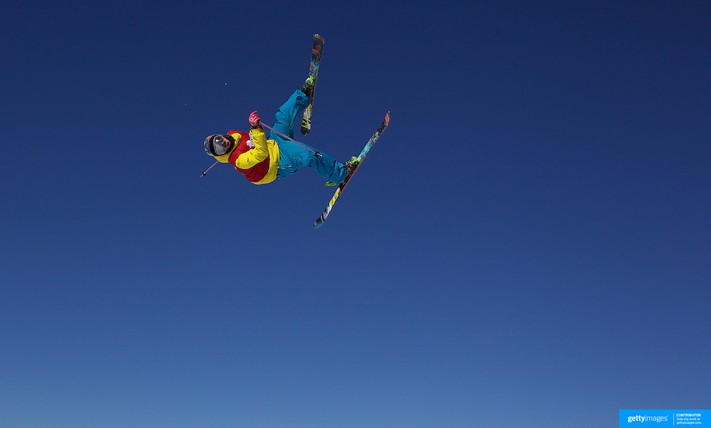 Takumi Toyama, Japan, in action in the Slopestyle Finals during The North Face Freeski Open at Snow Park, Wanaka, New Zealand, 2nd September 2011. Photo Tim Clayton..