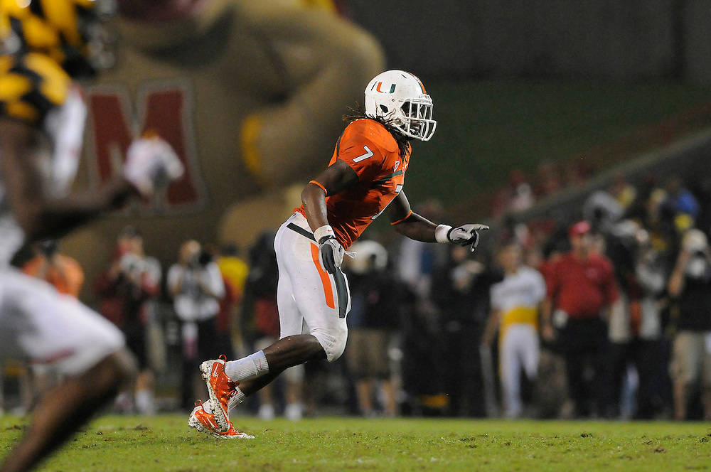 2011 Miami Hurricanes Football @ Maryland<br /> <br /> Vaughn Telemaque