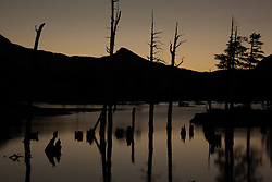 """Lake Aloha Sunset 6"" - Photograph of Lake Aloha at sunset in the Tahoe Desolation Wilderness."
