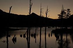 """Lake Aloha Sunset 6"" - Photograph of Lake Aloha at sunset in the Tahoe Desolation Wilderness."