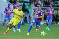 Damien DA SILVA / Yacine BAMMOU - 05.04.2015 - Nantes / Caen - 31eme journee de Ligue 1<br />Photo : Vincent Michel / Icon Sport