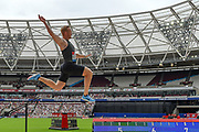 Greg Rutherford of Great Britain in the Men's Long Jump during the Muller Anniversary Games, Day Two, at the London Stadium, London, England on 22 July 2018. Picture by Martin Cole.
