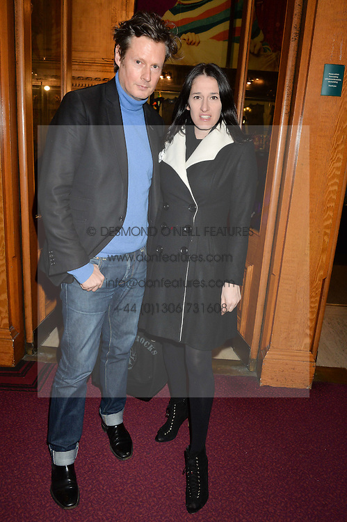 PERCY PARKER and AMY MOLYNEAUX at the Cirque Du Soleil's VIP performance of Kooza at The Royal Albert Hall, London on 6th January 2015.