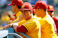 13 March 2011: NCAA Pac-10 college UCLA-USC sports rivalry baseball teams met in a non-conference game at Dodger Stadium as part of the Dodgertown Classic.  USC Trojans defeated the UCLA Bruins 2-0 during an afternoon weekend game inside the MLB stadium.  #23 Brett Williams.