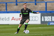 Forest Green Rovers Nathan McGinley(19) on the ball during the EFL Sky Bet League 2 match between Macclesfield Town and Forest Green Rovers at Moss Rose, Macclesfield, United Kingdom on 29 September 2018.