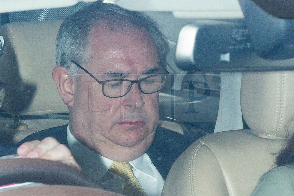 © Licensed to London News Pictures. 03/09/2019. London, UK. MP for Torridge and West Devon Geoffrey Cox arrives at The Houses of Parliament. Parliament is returning from the summer recess today with MPs expected to try to stop a no-deal Brexit. Prime Minister Boris Johnson has threatened to hold a snap election if the legislation is passed.  Photo credit: George Cracknell Wright/LNP