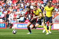 Football - 2016 / 2017 Premier League - AFC Bournemouth vs. Middlesbrough<br /> <br /> Bournemouth's Harry Arter chases after Calum Chambers of Middlesbrough at the Vitality Stadium (Dean Court) Bournemouth<br /> <br /> COLORSPORT/SHAUN BOGGUST