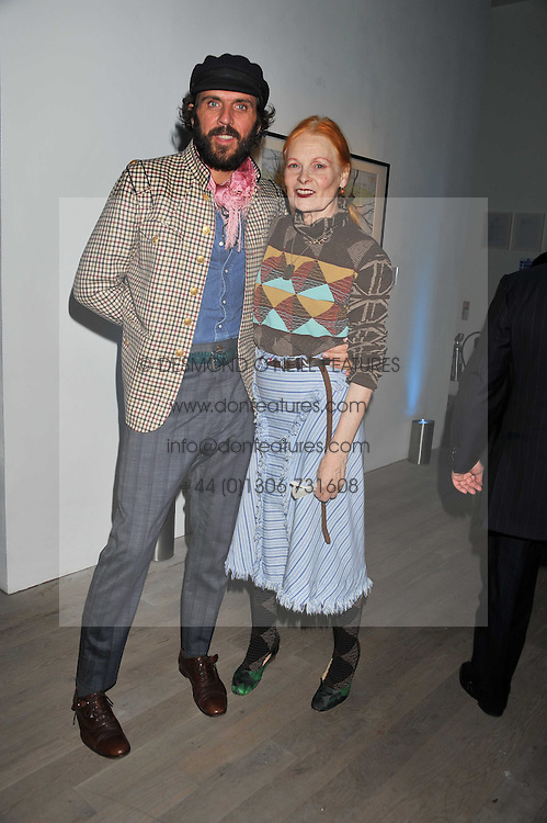 DAME VIVIENNE WESTWOOD and ANDREAS KRONTHALER at Arts for Human Rights gala dinner in aid of The Bianca Jagger Human Rights Foundation in association with Swarovski held at Phillips de Pury & Company, Howick Place, London on 13th October 2011.