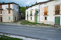 Abandoned village where new investment is possible, for wildlife watching. The Central Apennines rewilding area, Italy, in and around the Abruzzo, Lazio e Molise National Park.