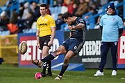 Dane Chisholm (7) of Featherstone Rovers misses the conversion during the Betfred Championship match between Featherstone Rovers and Halifax RLFC at the Big Fellas Stadium, Featherstone, United Kingdom on 9 February 2020.