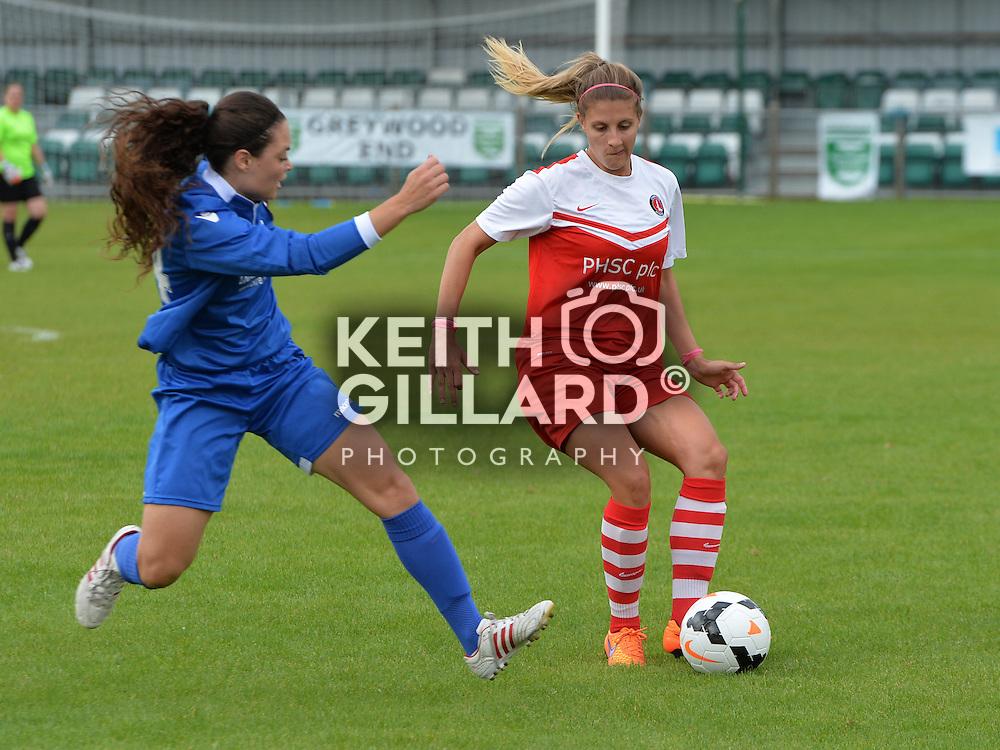 Charlton Athletic Women v C&amp;K Basildon Ladies, FA Women's Premier League, South,  13, September, 2015,   <br /> at Sporting Club Thamesmead.  <br /> <br /> MANDATORY CREDIT: Keith Gillard