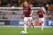 Northampton Town midfielder Nicky Adams (10) sprints forward with the ball during the EFL Sky Bet League 2 match between Northampton Town and Newport County at the PTS Academy Stadium, Northampton, England on 14 September 2019.