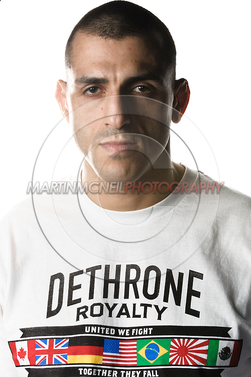 A portrait of mixed martial arts athlete George Sotiropoulos