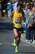 London. United Kingdom. 2014 London Marathon.  Narrow Street Limehouse, East London. Athletics 11:12:42  Sunday  13/04/2014  [Mandatory Credit; Peter SPURRIER/ Intersport Images],