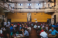 Inside the Indian Coffee House, where students, writers, and intellectuals have gathered over the years.
