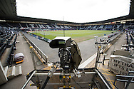 A general view of a TV camera in the stadium before during the Sky Bet Championship Playoff Semi Final First Leg at the iPro Stadium, Derby<br /> Picture by Russell Hart/Focus Images Ltd 07791 688 420<br /> 14/05/2016