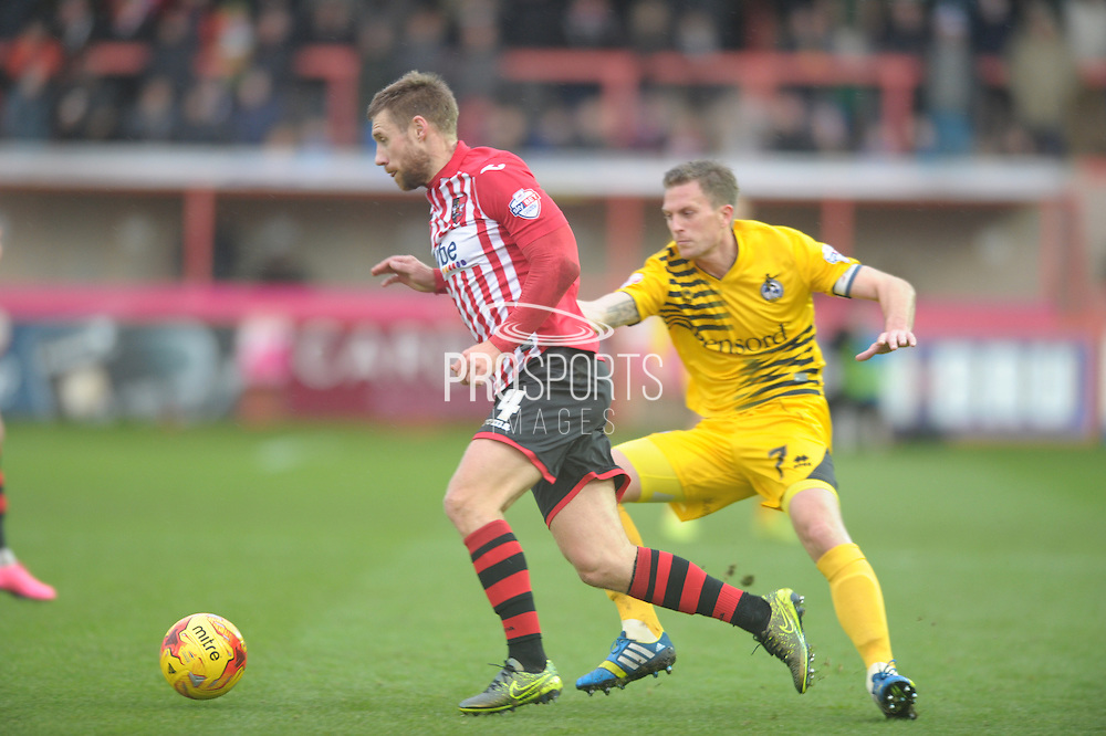 David Noble during the Sky Bet League 2 match between Exeter City and Bristol Rovers at St James' Park, Exeter, England on 28 November 2015. Photo by Graham Hunt.