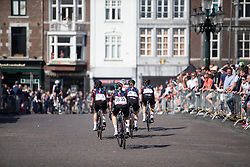 CANYON//SRAM Racing riders ride to the start of the Amstel Gold Race - Ladies Edition - a 126.8 km road race, between Maastricht and Valkenburg on April 21, 2019, in Limburg, Netherlands. (Photo by Balint Hamvas/Velofocus.com)
