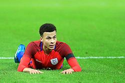Englands Dele Alli lies on the floor - Mandatory by-line: Matt McNulty/JMP - 26/03/2016 - FOOTBALL - Olympiastadion - Berlin, Germany - Germany v England - International Friendly
