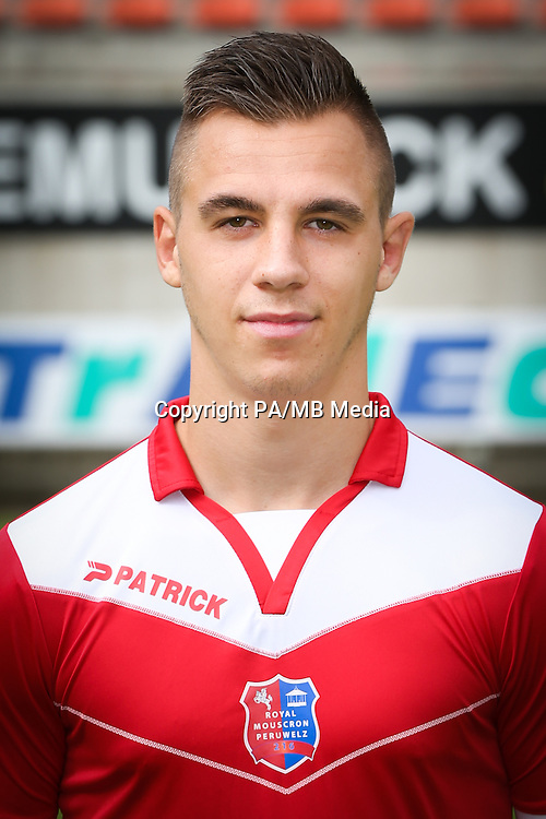 Jeremy Houze pictured during the 2015-2016 season photo shoot of Belgian first league soccer team Royal Mouscron Peruwelz, Thursday 16 July 2015 in Mouscron.