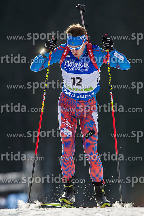 Dmitry Malyshko (RUS) during Men 10 km Sprint at day 1 of IBU Biathlon World Cup 2015/16 Pokljuka, on December 17, 2015 in Rudno polje, Pokljuka, Slovenia. Photo by Urban Urbanc / Sportida
