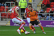Rotherham United defender Danny Collins and Wolverhampton Wanderers midfielder James Henry during the Sky Bet Championship match between Rotherham United and Wolverhampton Wanderers at the New York Stadium, Rotherham, England on 5 December 2015. Photo by Ian Lyall.