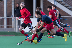 Southgate v Oxted - Men's Hockey League East Conference, Trent Park, London, UK on 26 November 2017. Photo: Simon Parker