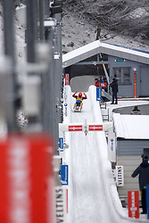 24.01.2015, Bobbahn, Winterberg, GER, Viessmann Rennrodel Weltcup, Winterberg, im Bild Freude bei EGGERT, Toni / BENECKEN, Sascha (GER)\ // during Viessmann Luge World Cup at the Bobbahn in Winterberg, Germany on 2015/01/24. EXPA Pictures © 2015, PhotoCredit: EXPA/ Eibner-Pressefoto/ Spiegelberg<br /> <br /> *****ATTENTION - OUT of GER*****
