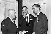 28/04/1964<br /> 04/28/1964<br /> 28 April 1964<br /> Watney Sales Conference at the Shelbourne Hotel, Dublin. At the conference were (l-r): Mr. Gleeson; Mr. T.A. Mullett and Mr. E. Plunkett.