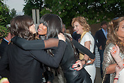 BELLA FREUD; NAOMI CAMPBELL; JULIA PEYTON-JONES, The Serpentine Summer Party 2013 hosted by Julia Peyton-Jones and L'Wren Scott.  Pavion designed by Japanese architect Sou Fujimoto. Serpentine Gallery. 26 June 2013. ,