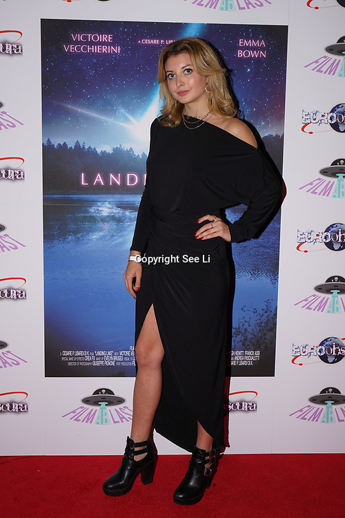 London, England, UK. 14th September 2017.Cast Emily Warburton Smith attend the Landing Lake Film Premiere at Empire Haymarket,London, UK.