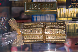 Sept. 3, 2015 - New York, New York, U.S. - Items for sale at the Trump Store as DONALD TRUMP announces he has signed the GOP loyalty pledge after meeting with Republican National Committee Chairman Reince Priebus this afternoon at a press conference at Trump Tower, Thursday September 3, 2015. (Credit Image: © Bryan Smith via ZUMA Wire)
