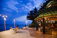 Beachside bar at the far end of White Sand Beach on Boracay Island makes the ideal spot for a late afternoon cocktail.