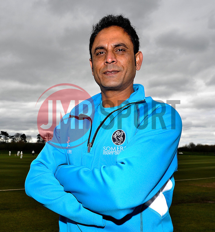 Somerset's Abdur Reham poses. - Photo mandatory by-line: Harry Trump/JMP - Mobile: 07966 386802 - 04/04/15 - SPORT - CRICKET - Pre Season - Day 3 - Somerset v Durham MCCU - Taunton Vale, Somerset, England.