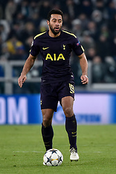 February 13, 2018 - Turin, Italy - Mousa Dembl of Tottenham during the UEFA Champions League Round of 16 match between Juventus and Tottenham Hotspur at the Juventus Stadium, Turin, Italy on 13 February 2018. (Credit Image: © Giuseppe Maffia/NurPhoto via ZUMA Press)